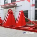 Wire rope spooling machine