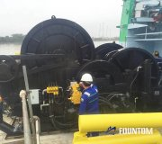 Fountom_towing_winch_on_sea_trial